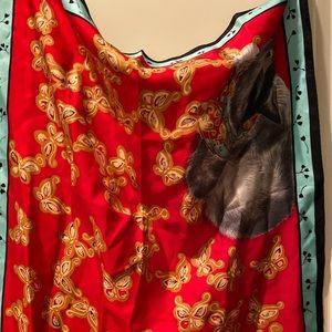 MOMA 100% Silk Cat Scarf
